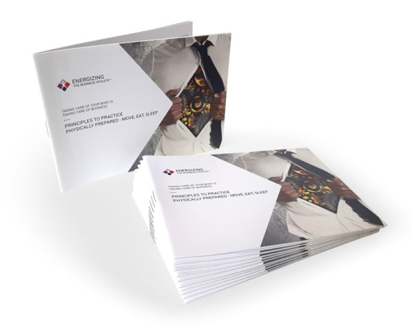 Brochure Principles to practice physically prepared - move, est,sleep